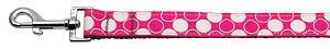 Diagonal Dots Nylon Collar Bright Pink 1 wide 6ft Lsh